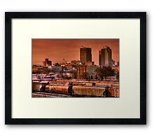 Morning Express - Winnipeg Framed Print