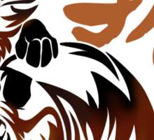 Fox tribal tattoo Sticker