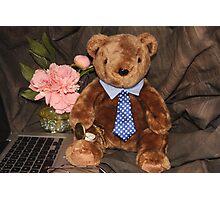 Working Teddy Bear Photographic Print