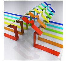 Houses - 3D Render Poster