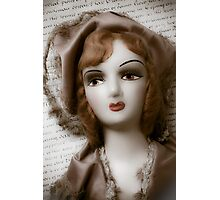 Old Doll On Letter Photographic Print