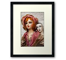 Two Vintage Dolls Framed Print