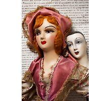 Two Vintage Dolls Photographic Print