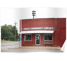 Erick, Oklahoma - Public Library Poster