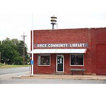 Erick, Oklahoma - Public Library Photographic Print