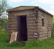 Route 66 - Texola Jail by Frank Romeo