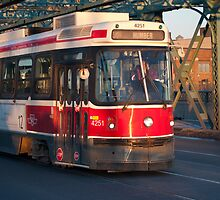 Streetcar 501 On The Queen Street Bridge by Gary Chapple