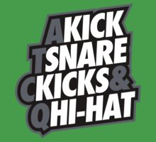 Kick, Snare, Kicks & Hi-Hat by asetdesigns