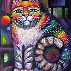 Colourful Cats by Karin Zeller by Karin Zeller