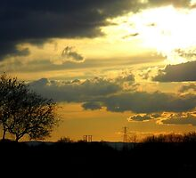Typical mixed English sky by Emma  Kelly