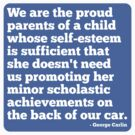 Proud Parent Of A Child With Self Esteem Sticker - Female by houseAU
