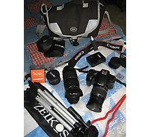 My Camera Equipment Photographic Print