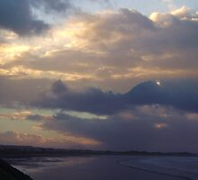 Night Falling on Enniscrone Beach by Éilis  Finnerty Warren