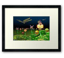 A Fantasy Garden Framed Print
