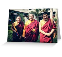 Khenpo Sonam,  Venerable Khenchen Palden Sherab Rinpoche and Khenpo Tashi Gyatso Greeting Card