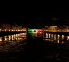 Ponte Vecchio at Night (Florence, Italy) by Britland Tracy