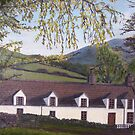 028 - WELSH COTTAGE - DAVE EDWARDS - OIL - c.1980 by BLYTHART