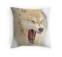 Mean looking Yawn! Throw Pillow