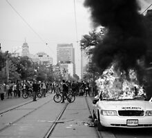 Burning Cruiser - G20, Toronto by Mathieu Chauveau