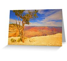 """Alone On The Rim"" Greeting Card"