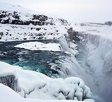 Gullfoss Waterfall - Southern Iceland by Matthew Kocin