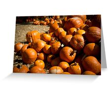 Halloween Pumpkin Patch - Grainy Burnt Orange Greeting Card