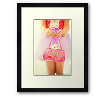 a little hamster in the pink bag Framed Print