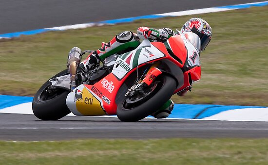 Max Biaggi Phillip Island 2011 by Anthony Edwards