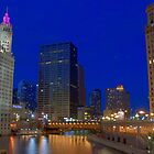 Chicago River at Dusk by tmbolle