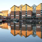 The Sun Goes Down Over Gloucester Docks by Mick2010