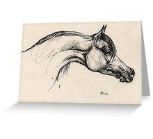 the arabian horse drawing Greeting Card
