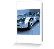 Mercedes 3D Render Greeting Card