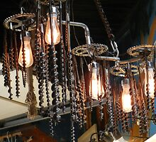 sprockets and augers and bulbs... oh, my! by WonderlandGlass