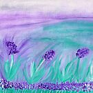 Field of Puple Flowers by ©Maria Medeiros