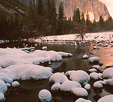EL CAPITAN AND MERCED RIVER,WINTER by Chuck Wickham