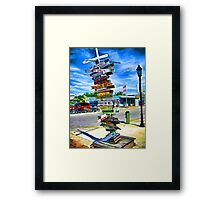 All Roads Lead To Key West Framed Print