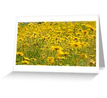 Yellow Nature Greeting Card