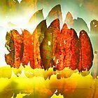Line of leaves 2 by Howard Gwynne