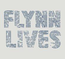Flynn Lives Distressed Dark Blue by SkekTek