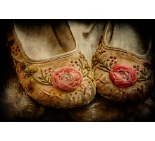 in little girls shoes Photographic Print