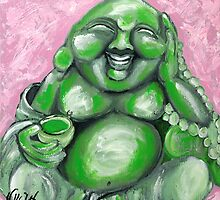 EMERALD LAUGHING BUDDHA of LOVE by whittyart