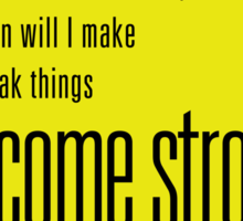 Become Strong Sticker