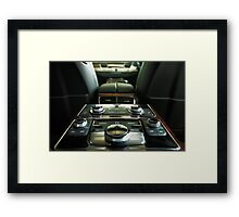 Audi A8L Interior Rear Framed Print
