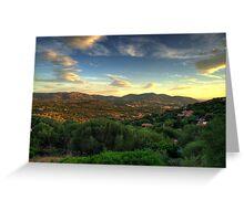 Sardinia - Sunset at Porto Istana, Costa Smeralda Greeting Card