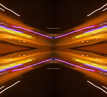 Vehicle Lights Time Exposure 9744 by Curtis Cunningham