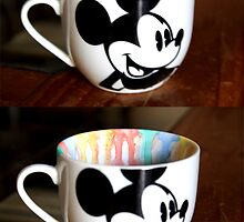 Mickey Mouse Watercolor Mug by adrianpalooza