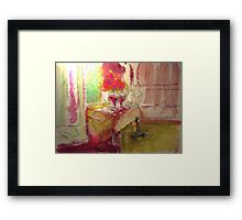 TWO GLASES WITH RED WINE (c2011) Framed Print
