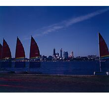 Sails on the Swan Photographic Print