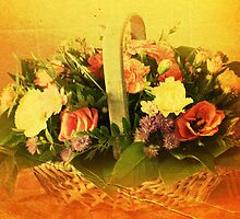 A Basket of Flowers by JacquiK