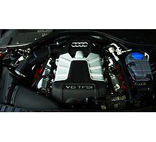 Audi A6 3.0 V6 TFSI Engine Photographic Print